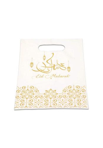 """Uitdeelzakjes PE """"Eid Mubarak"""" Goud - 6st."""