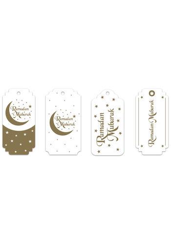 """Giftlabels """"Ramadan Mubarak"""" Goud"""