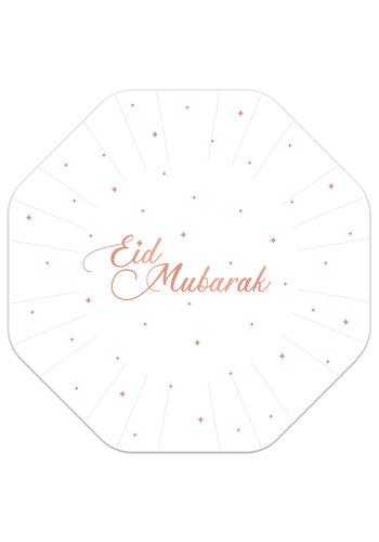 """Borden """"Eid Mubarak"""" Rose Goud - 8st - 18cm"""