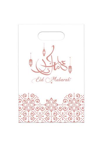 """Uitdeelzakjes """"Eid Mubarak"""" Rose Goud - 6st"""