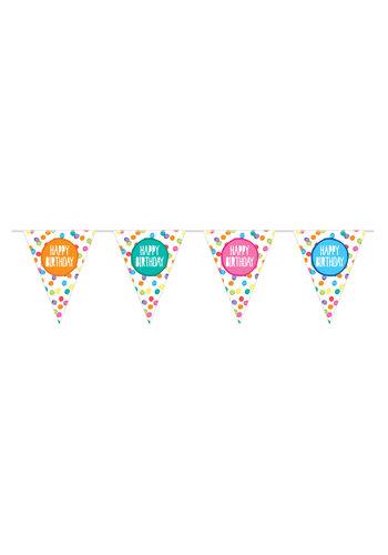 Vlaggenlijn Happy Birthday Festive Colors