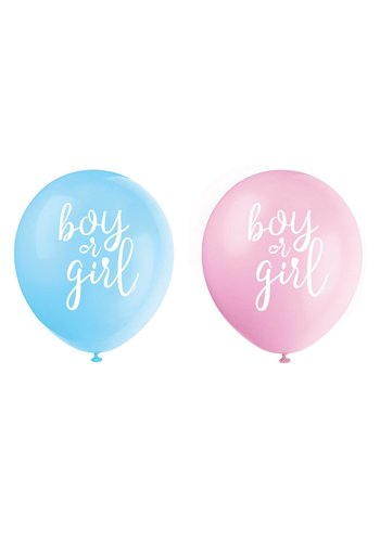 Ballonnen Gender Reveal - 30cm - 8st