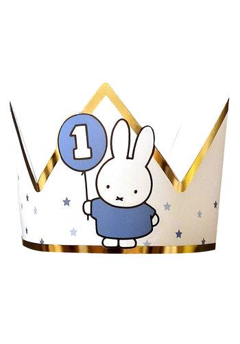 Kroontje Nijntje First Birthday Blauw