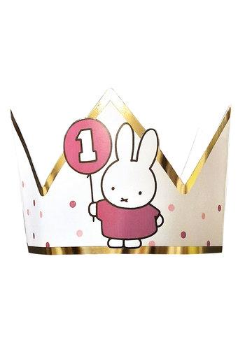 Kroontje Nijntje First Birthday Roze