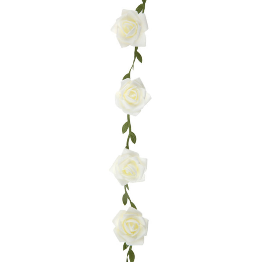 Roses garland White - ø 50 mm - 120 cm-2