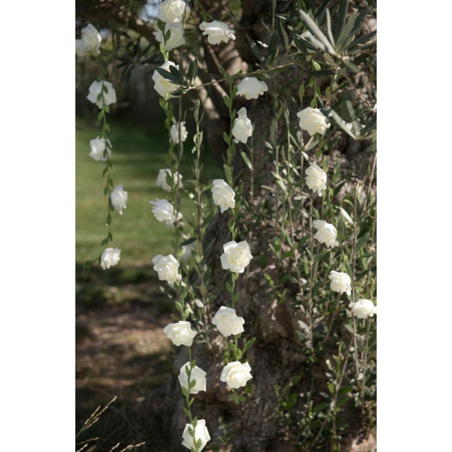 Roses garland White - ø 50 mm - 120 cm-1