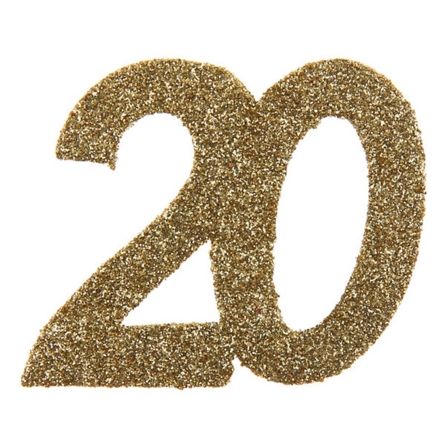 Glitter Confetti 20 - 6st - 6x6cm-1