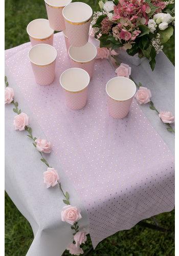 Roses garland Pink