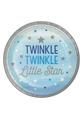 Bordjes Twinkle Boy - Ø23cm - 8st