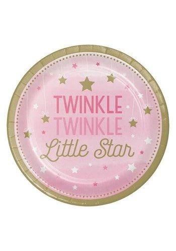 Bordjes Twinkle Girl - Ø23cm - 8st