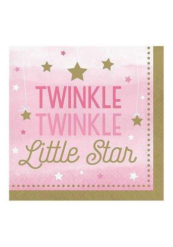 Servetten Twinkle Girl - 33x33cm - 16st