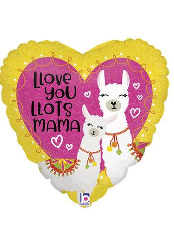 Folieballon Love you lots mama lama - 45cm