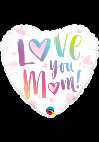 Folieballon Love you mom! - 45cm