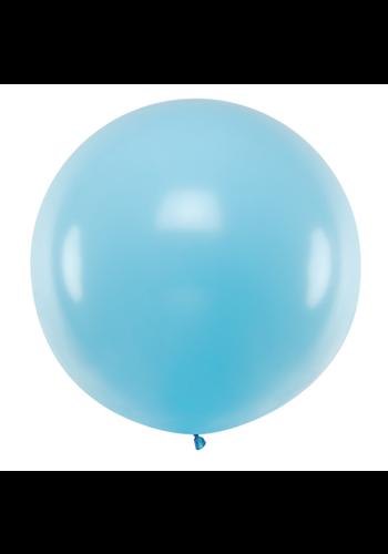 Mega Ballon Pastel Lichtblauw - 1 mtr - 1 stuk