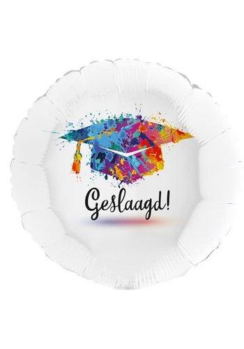 Folieballon Holographic Geslaagd - 45cm