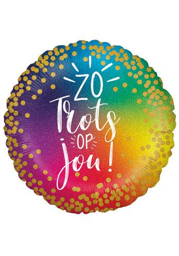 Folieballon Zo Trots Op Jou - 45cm