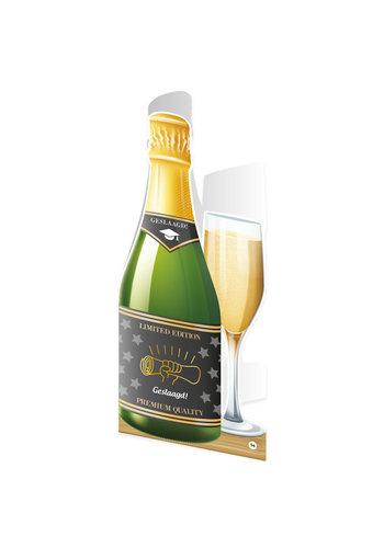 Champagne kaart - Geslaagd school