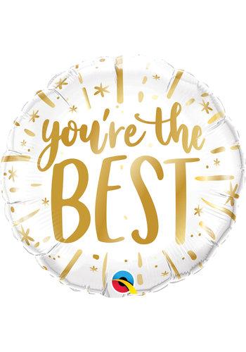 Folieballon 'You're the best' - 45cm