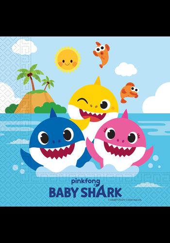 Baby Shark Servetten - 20 stuks - 33x33cm