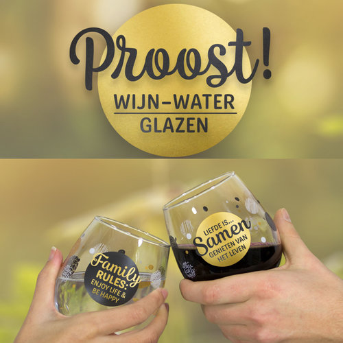 Proost! Wijn-Water Glazen