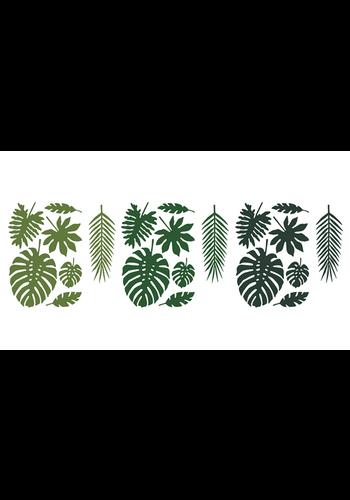 Decoraties Aloha - Tropische bladeren mix - 21 st