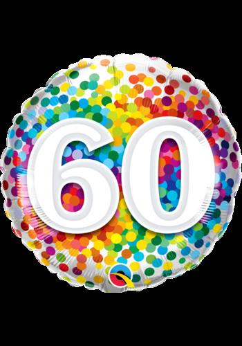 Folieballon 60 Rainbow Confetti - 45cm