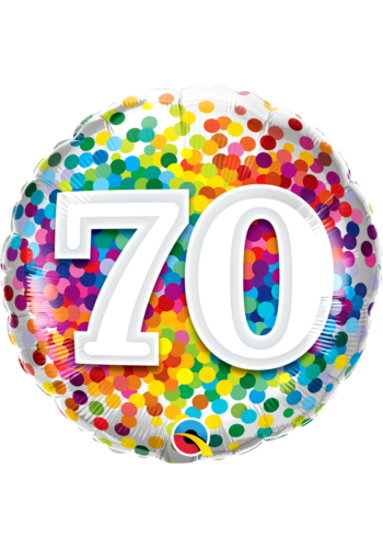 Folieballon 70 Rainbow Confetti - 45cm