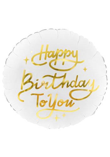 Folieballon Happy Birthday To You - 45cm