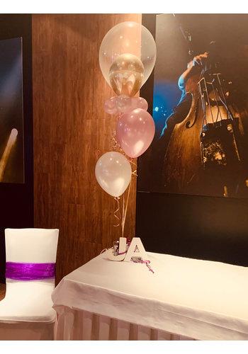 Tafeldecoratie met dubbele topballon