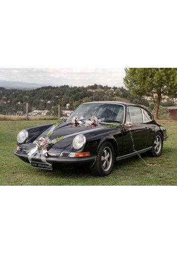 Wedding metallic car deco kit - Zilver
