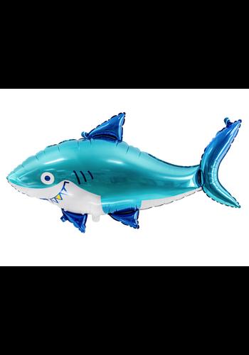 Folieballon haai - 92x48cm