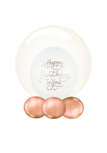Folieballon Clearz Crystal Geel - 50cm