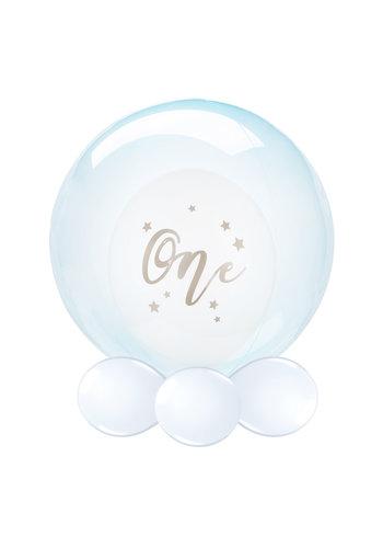 Folieballon Clearz Crystal Blauw - 50cm