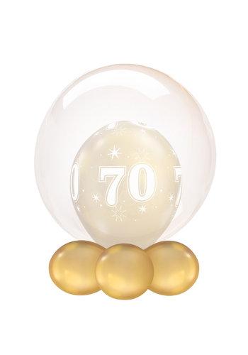 Folieballon Clearz Crystal Oranje - 50cm