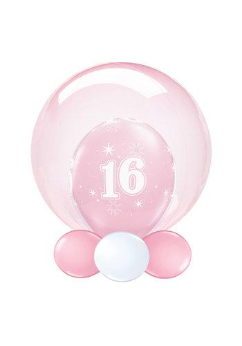 Folieballon Clearz Crystal Pink - 50cm
