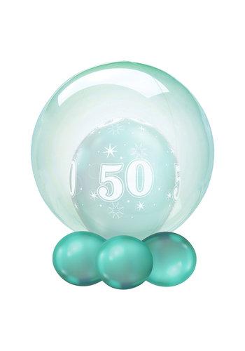 Folieballon Clearz Crystal Green - 50cm