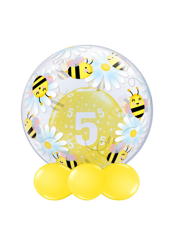 Deco Bubble Sweet bees & Daises - 61 cm - 24 inch