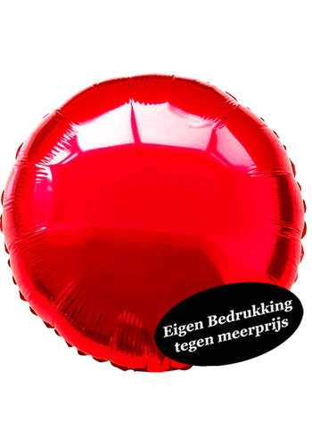 Folieballon Rond Rood - 45cm