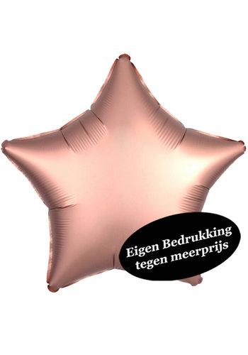 Folieballon Ster Satijn Rosé Gold - 43cm