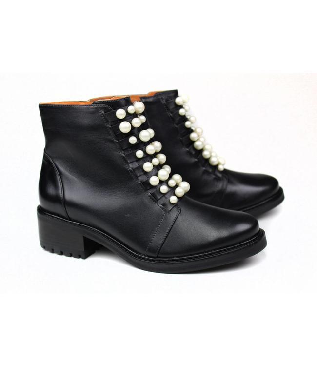 Cristofoli Cristofoli 185320/2 BS mestico preto/ pearls perla  Laatste 3 maten 36, 37 en 41!