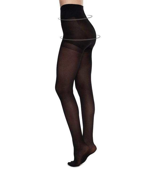 Swedish stockings Anna black control top 40 Den