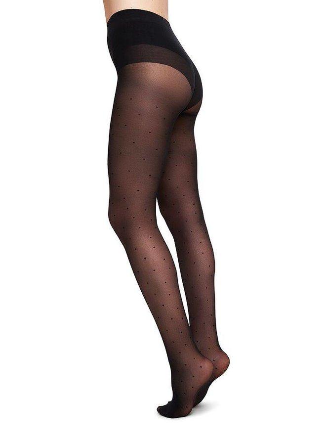 Swedish Stockings Doris Dots Black