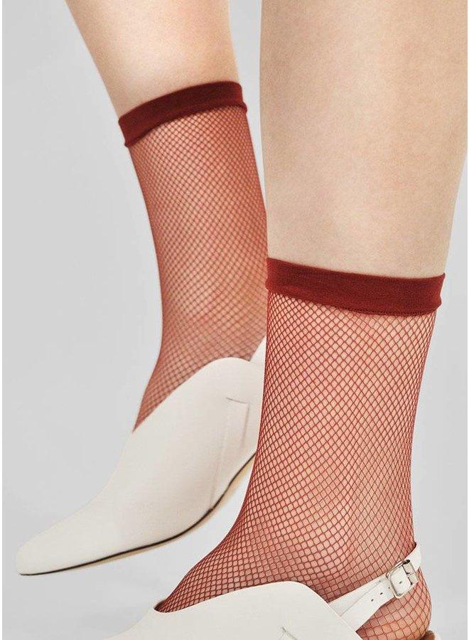 Swedish Stockings Liv Sock Net Red