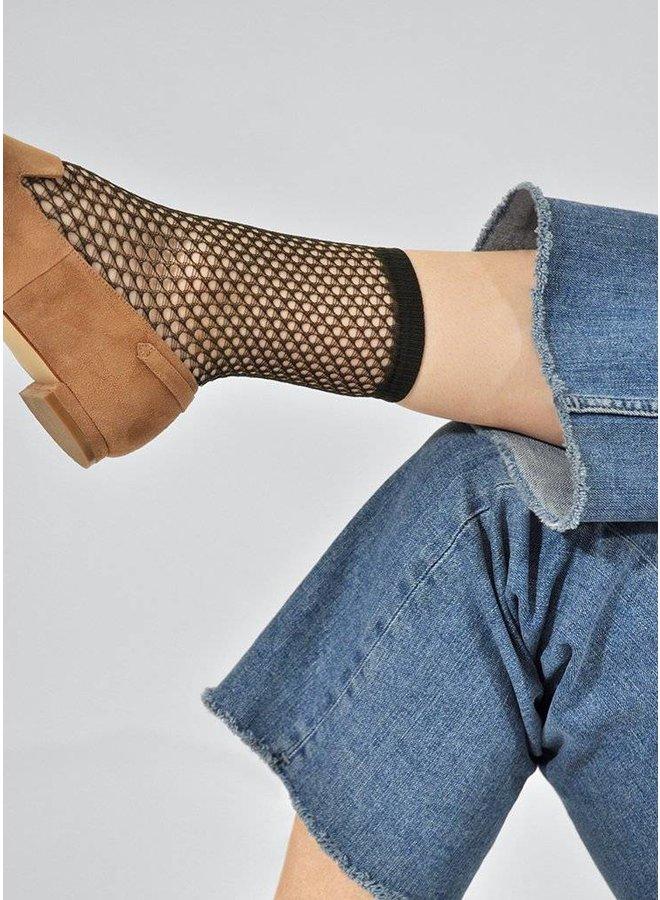 Vera Net Sock Green