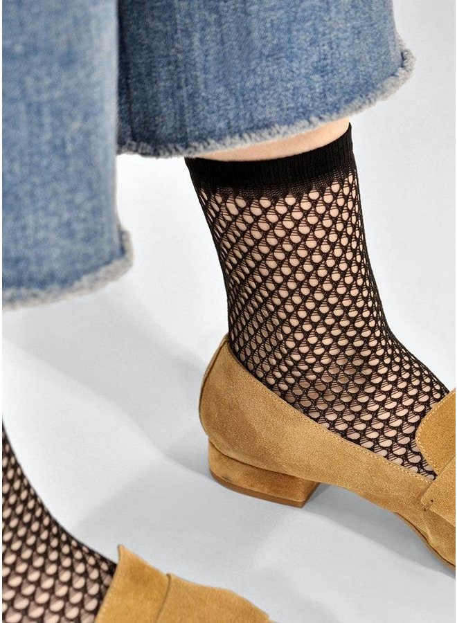 Vera Net Sock Black