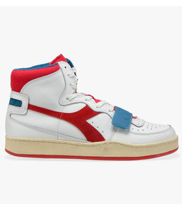 Diadora MI basket used white/dark red