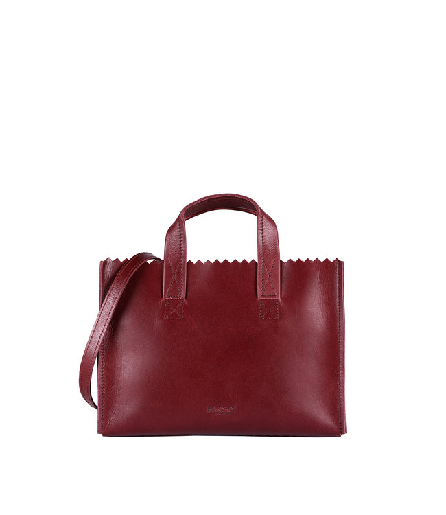 MYOMY MYOMY 10763011 my paper bag mini handbag cross body hunter waxy burgundy