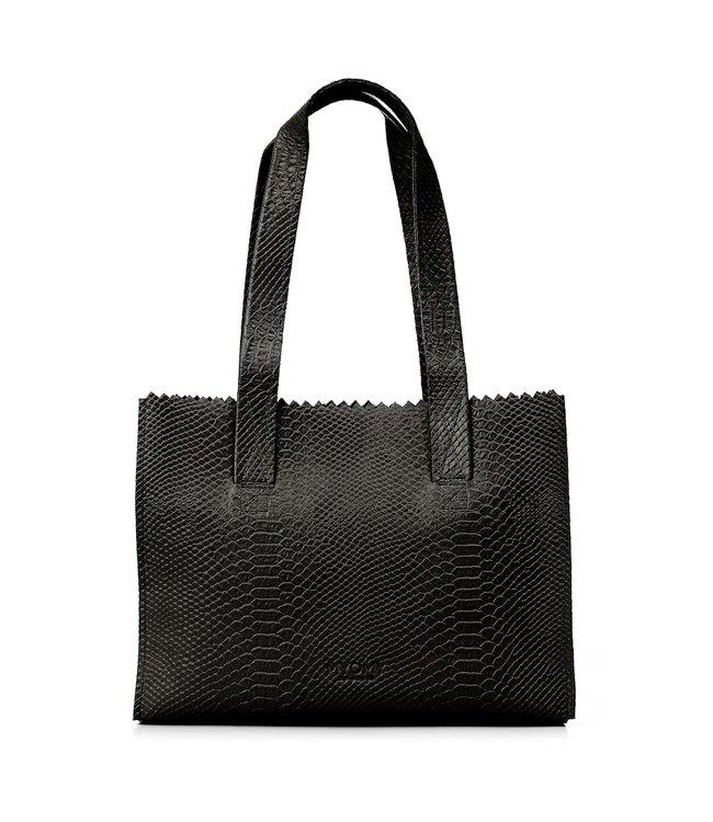MYOMY MYOMY 10573062 my paper bag handbag anaconda black