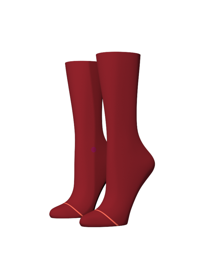 Stance Cuddle Cozy Crew Red.  Maat M (38-42)