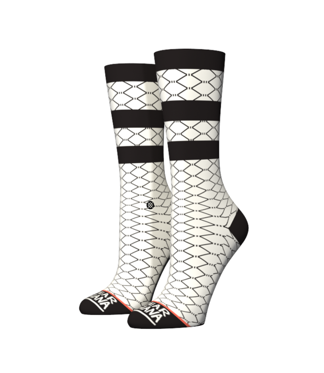 Stance Stance Fish Nets White.  Maat M (38-42)